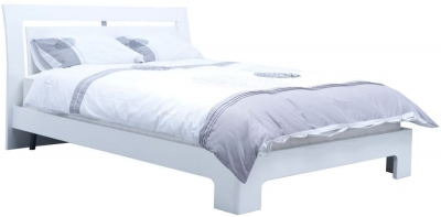Vida Living Newport White Gloss Bed