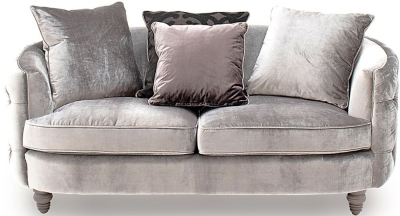 Vida Living Nicolette Pewter Velvet 2 Seater Sofa