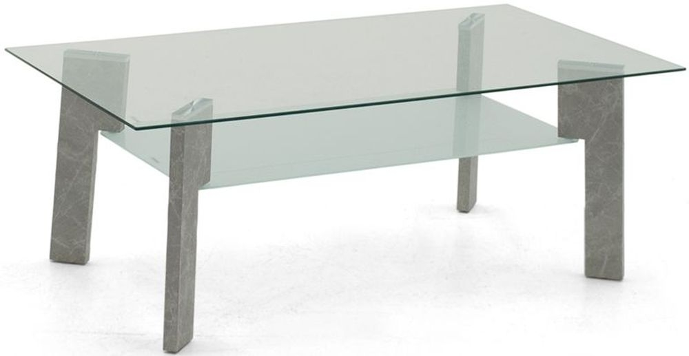 Vida Living Odense Coffee Table - Glass and Grey