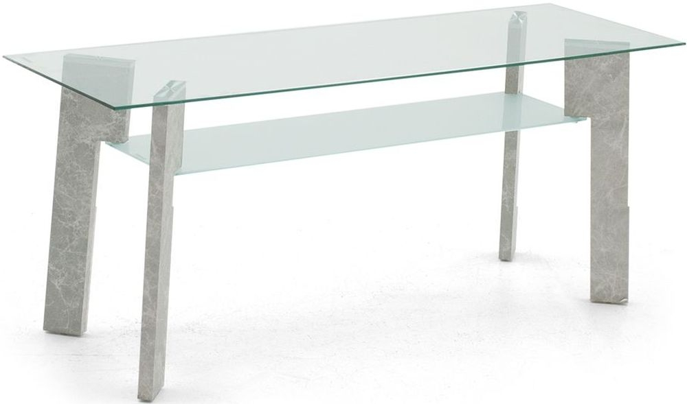 Vida Living Odense TV Unit - Glass and Grey