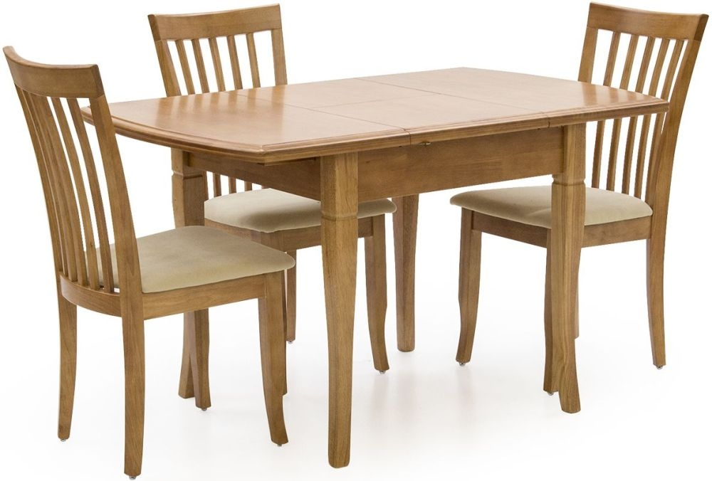 Vida Living Odessa Maple Dining Set   Extending With 4 Chirs