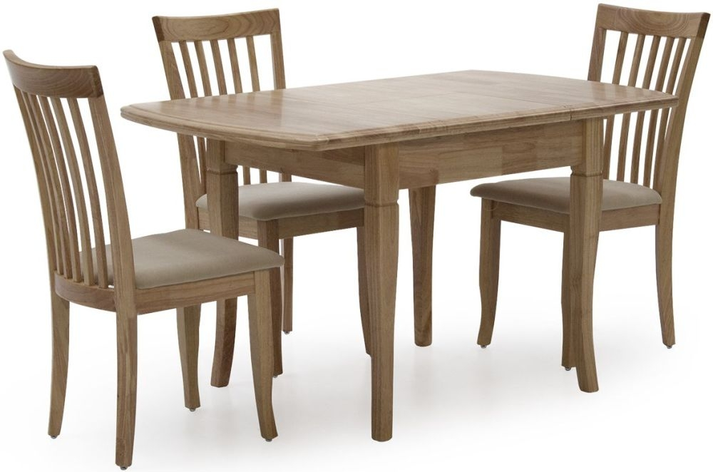 Vida Living Odessa Natural Dining Set - Extending with 4 Chairs