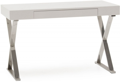 Vida Living Sienna White High Gloss Desk