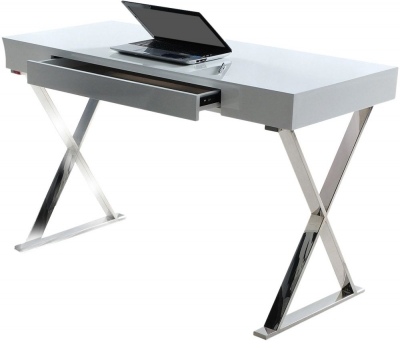 Vida Living Sienna White Gloss Desk
