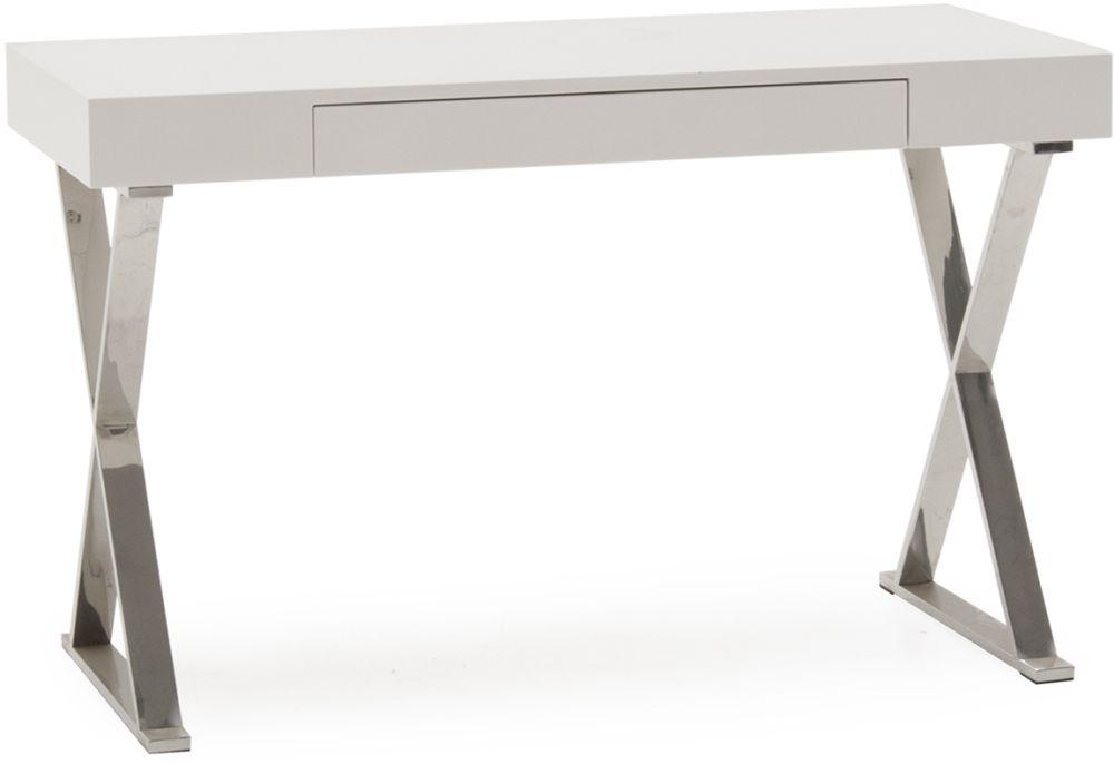 Vida Living Sienna White High Gloss Desk