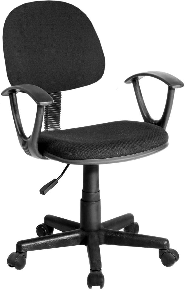 Vida Living Office Manager Black Fabric Chair