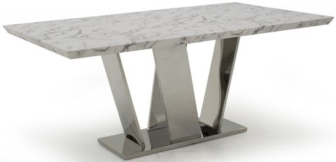 Vida Living Olena Marble 160cm Dining Table