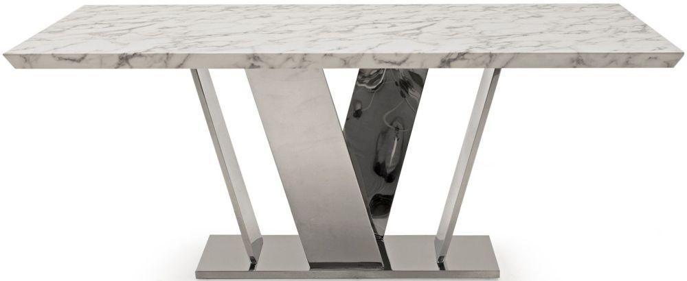 Vida Living Olena Off White Marble 180cm Dining Table