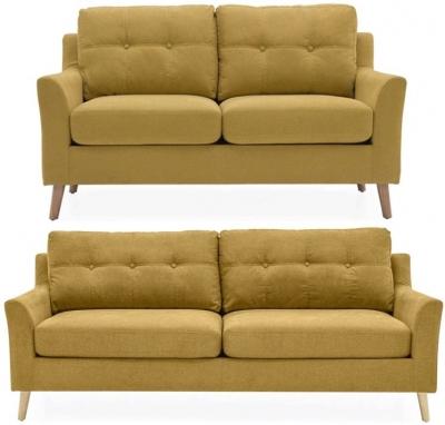 Vida Living Olten Citrus Fabric 3+2 Seater Sofa