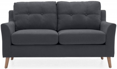 Vida Living Olten Charcoal Fabric 2 Seater Sofa