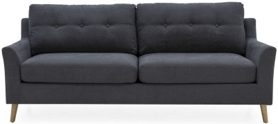 Vida Living Olten Charcoal Fabric 3 Seater Sofa