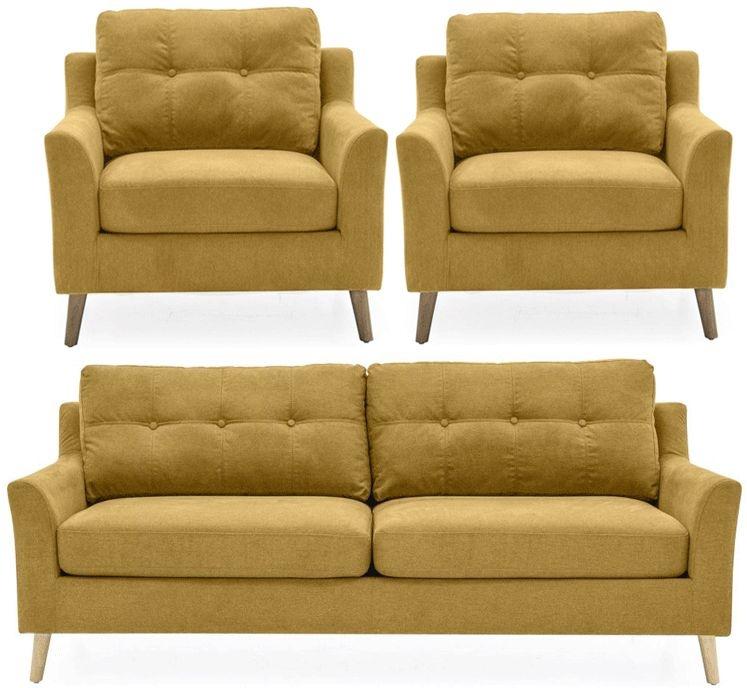 Vida Living Olten Citrus Fabric 3+1+1 Seater Sofa