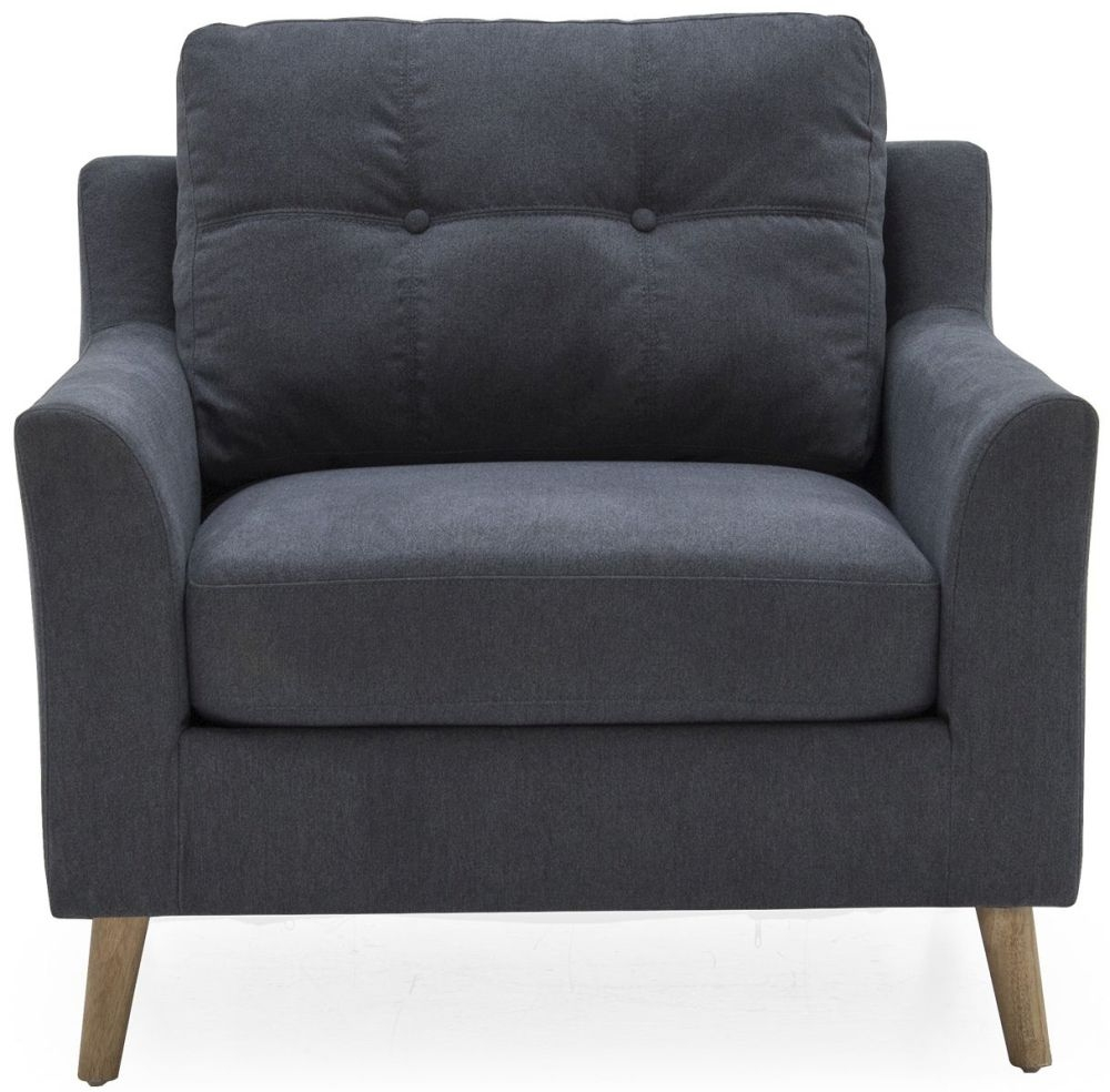 Vida Living Olten Charcoal Fabric Armchair