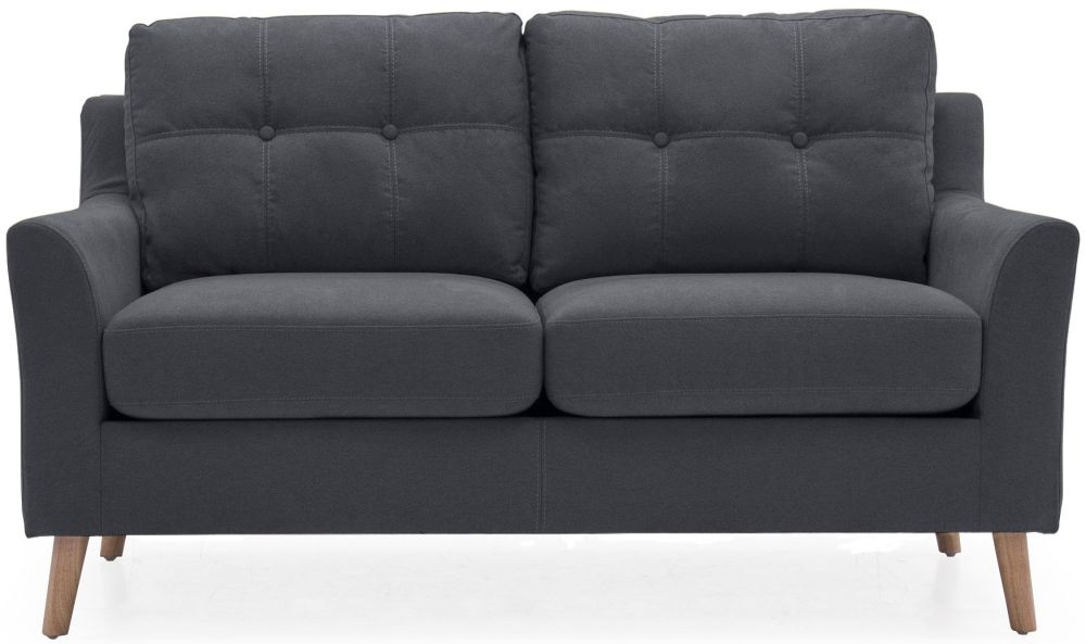 Vida Living Olten Charcoal Fabric 2 Seater Sofa