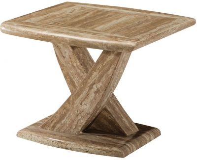 Vida Living Olympia Marble Sahara Lamp Table