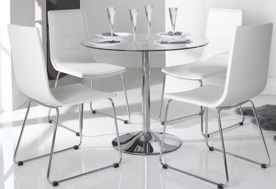 Vida Living Orbit Glass Dining Table