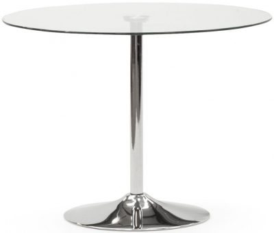Vida Living Orbit Large Black Glass Dining Table