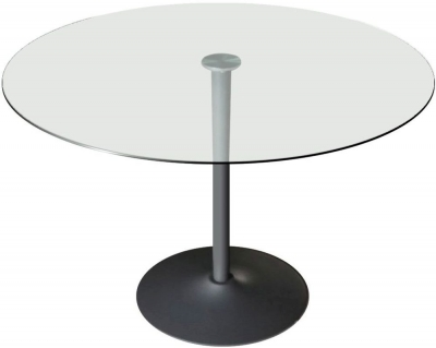 Vida Living Orbit 100cm Grey Round Dining Table