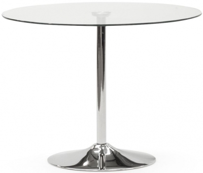 Vida Living Orbit Small Black Glass Dining Table