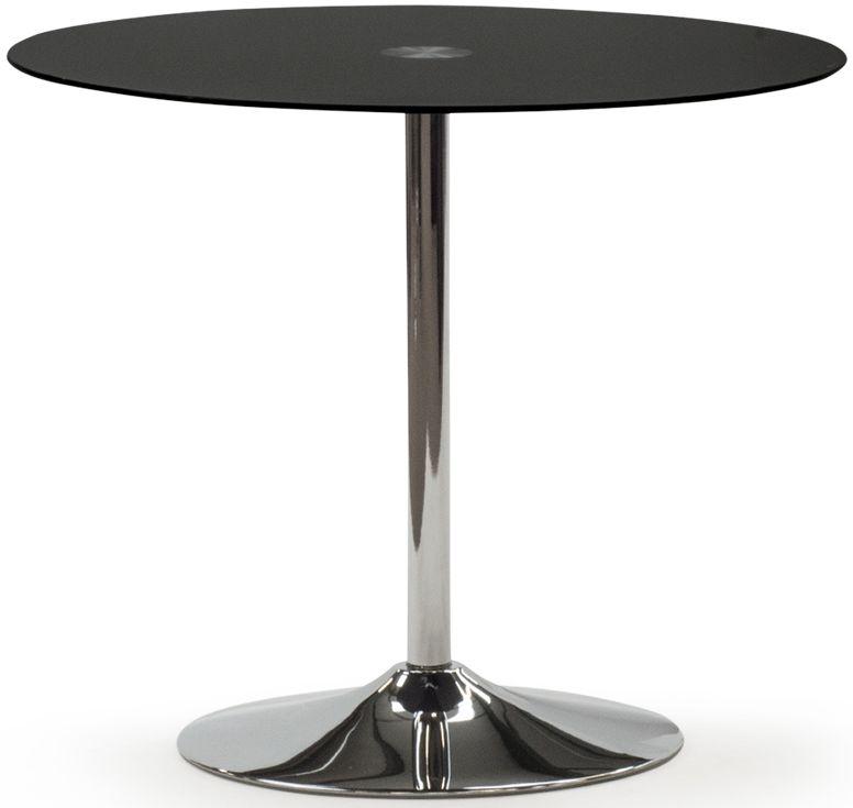 Vida Living Orbit Black Round Dining Table - 90cm