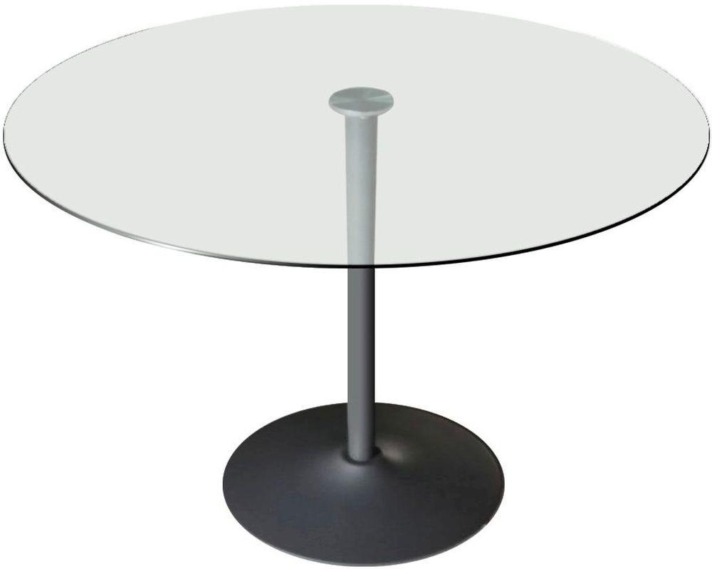 Vida Living Orbit Round Dining Table - Glass and Chrome
