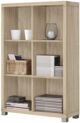 Vida Living Oscar Light Oak Low Bookshelf