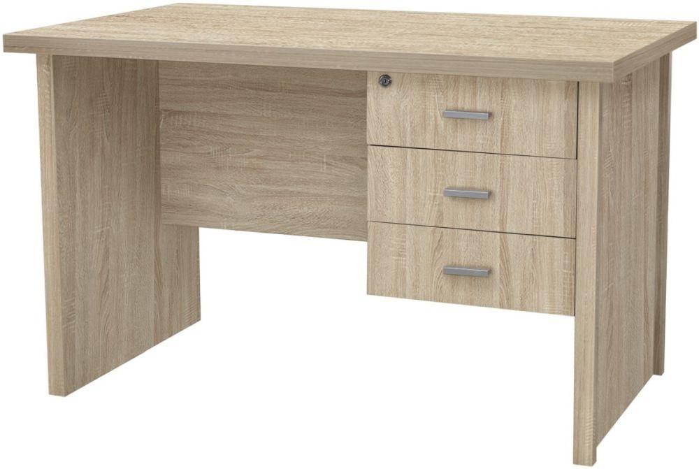 Vida Living Oscar Light Oak 3 Drawer Desk
