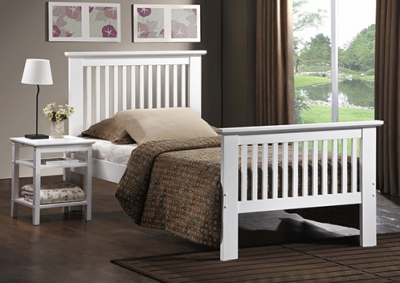 Vida Living Paris Oak 3ft Single White Bed