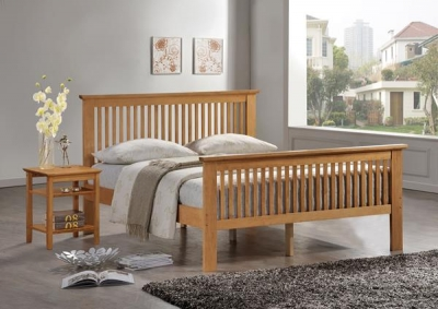 Vida Living Paris Oak White Bed