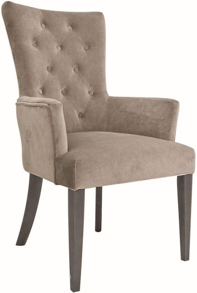 Vida Living Pembroke Arm Chair - Taupe Velvet