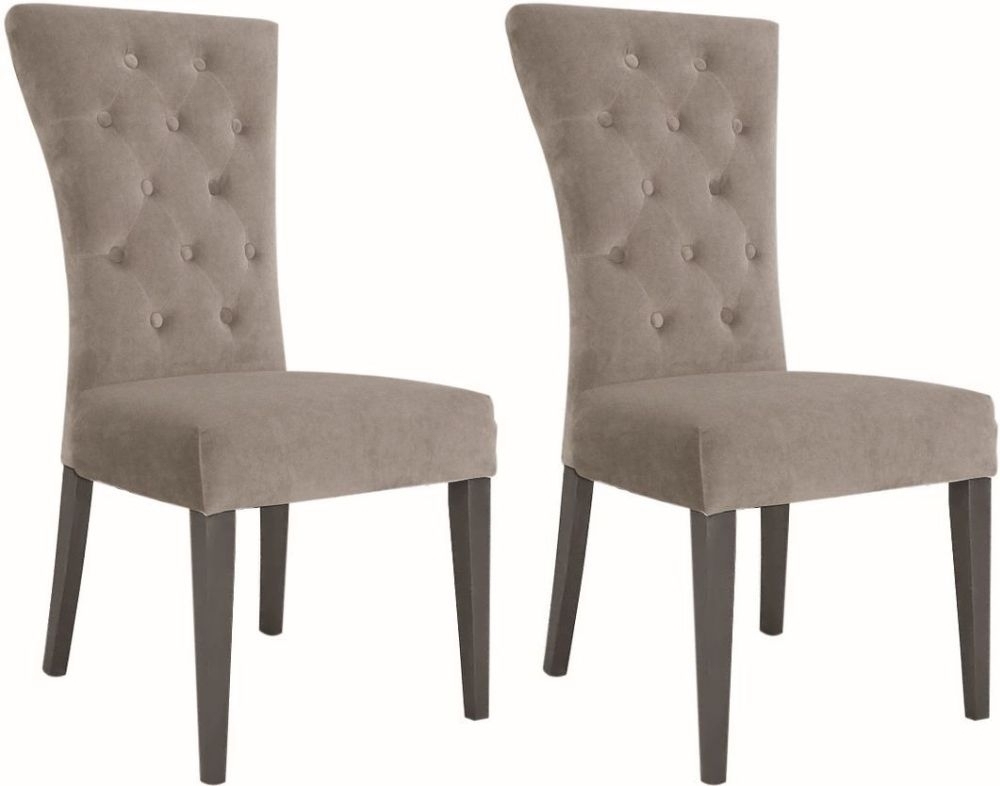 Vida Living Pembroke Dining Chair (Pair) - Taupe Velvet