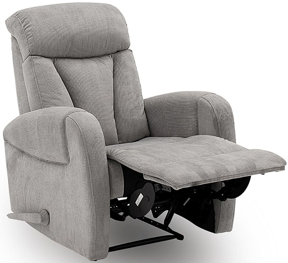 Vida Living Phoebe Grey Fabric Electric Motor Recliner Chair