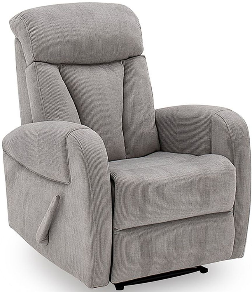 Vida Living Phoebe Grey Fabric Recliner Armchair