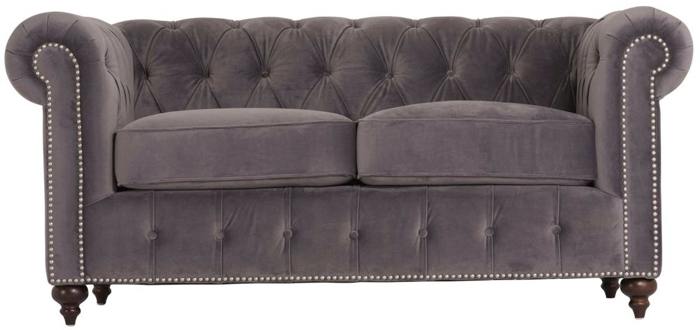 Vida Living Porter Misty 2 Seater Brushed Velvet Sofa