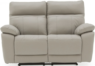 Vida Living Positano Light Grey Leather 2 Seater Electric Recliner Sofa