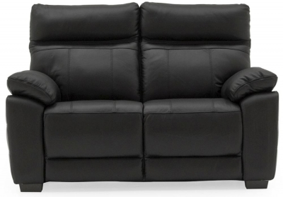Vida Living Positano Black Leather 2 Seater Sofa