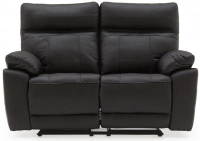 Vida Living Positano Black Leather 2 Seater Recliner Sofa