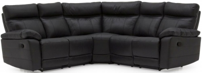 Vida Living Positano Black Leather Corner Sofa