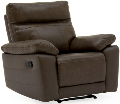 Vida Living Positano Brown Leather Recliner Chair