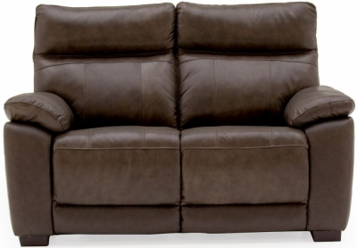 Vida Living Positano Brown Leather 2 Seater Fixed Sofa