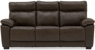 Vida Living Positano Brown Leather 3 Seater Sofa