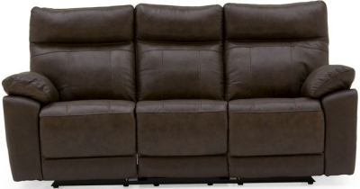 Vida Living Positano Brown Leather 3 Seater Recliner Sofa