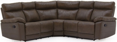 Vida Living Positano Brown Leather Corner Sofa