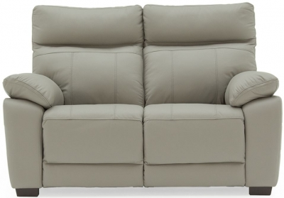 Vida Living Positano Light Grey Leather 2 Seater Sofa