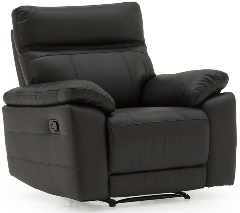 Vida Living Positano  Black 1 Seater Recliner Sofa