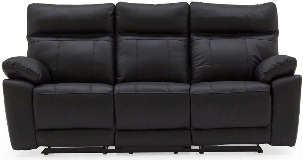 Vida Living Positano  Black 3 Seater Recliner Sofa