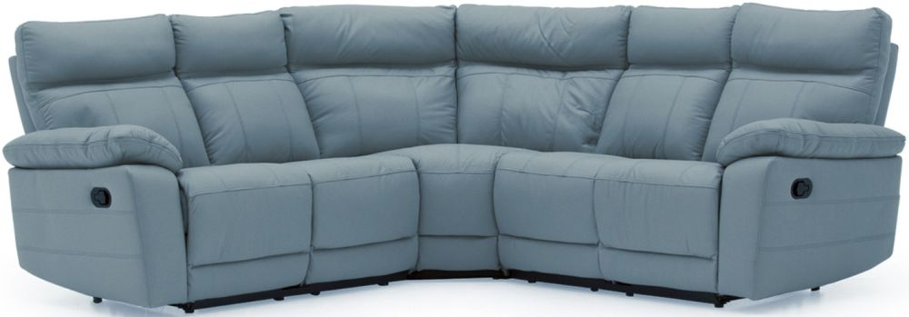 Vida Living Positano Blue Leather Corner Group Sofa
