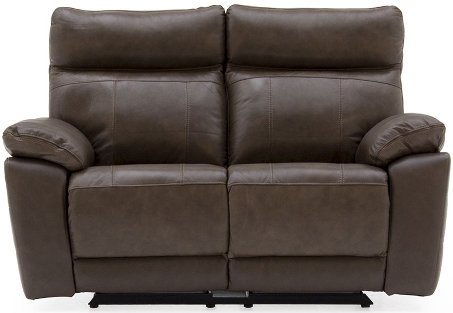 Vida Living Positano Brown Leather 2 Seater Recliner Sofa