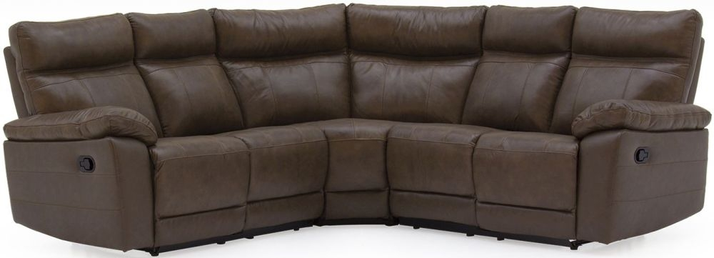 Vida Living Positano Brown Leather Corner Sofa Group