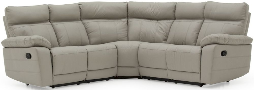 Vida Living Positano Grey Leather Corner Sofa Group